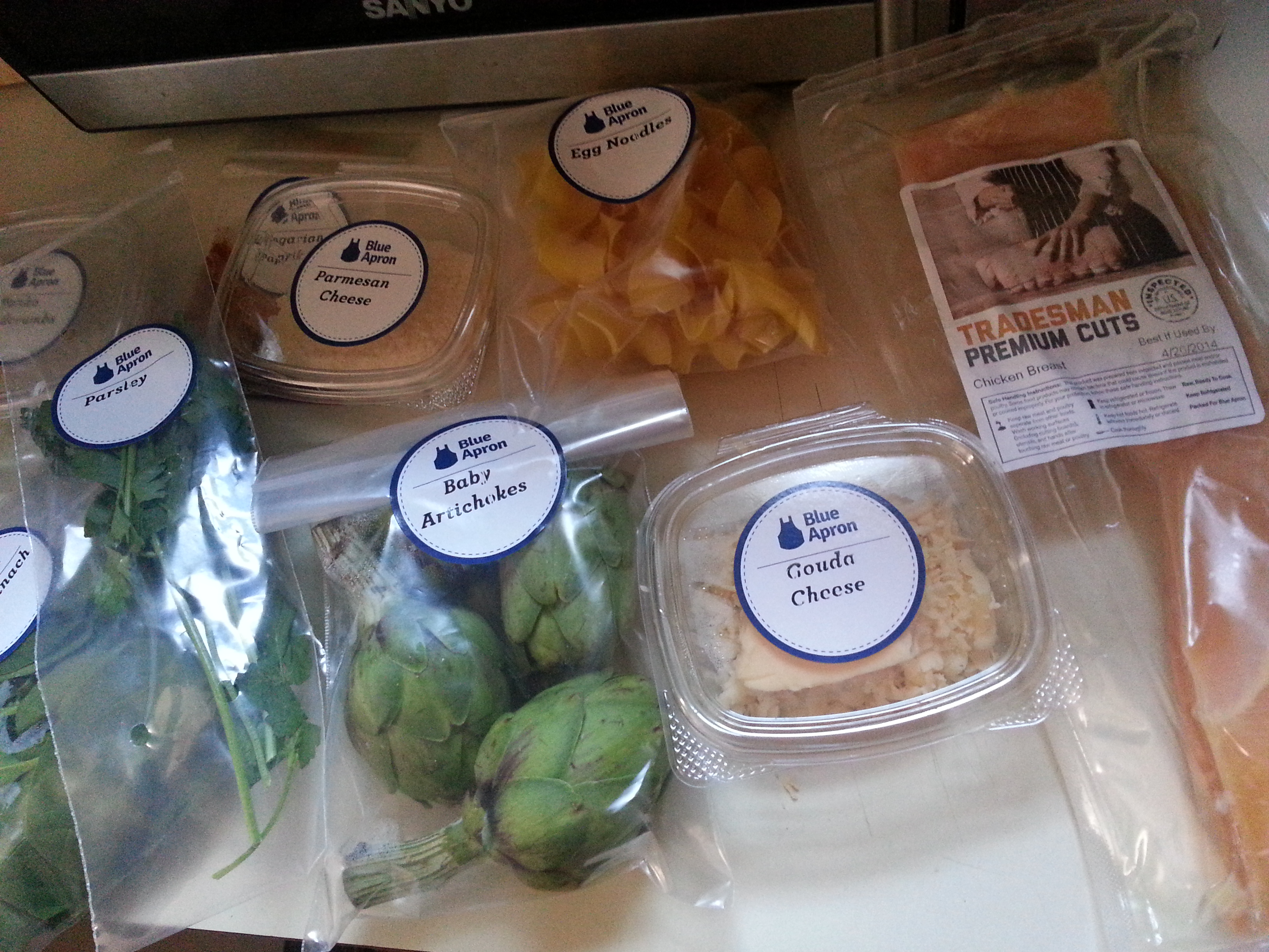 Blue apron experience - 20140409_130923